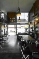 cena desfocada de café ou restaurante para o fundo foto