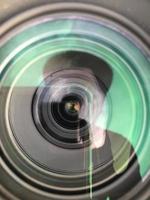 reflexo em uma lente telefoto
