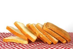 pão na toalha de mesa