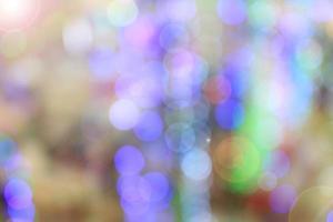 bokeh colorido de fundo claro