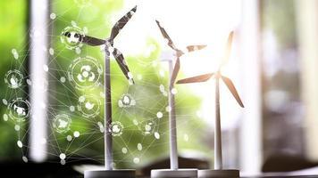 conceito de turbina eólica foto