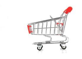 carrinho de compras em branco