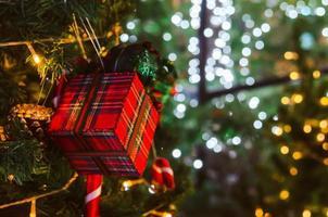 enfeites de natal na árvore