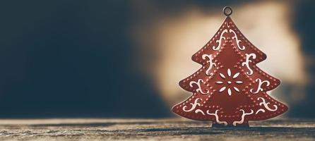decoração da árvore de natal foto