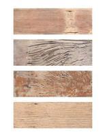 pranchas de madeira isoladas foto