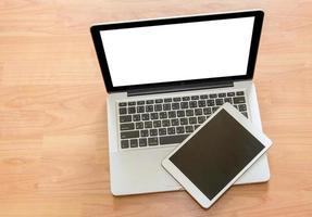 telas em branco de laptop e tablet, maquete