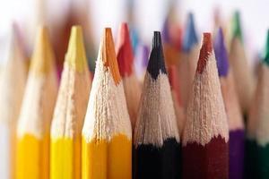 close-up de lápis de cor