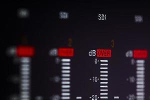 controles deslizantes de gravação de vídeo