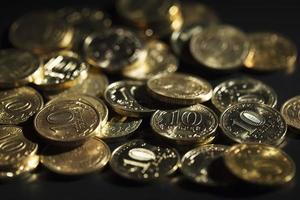 moedas de rublos russos