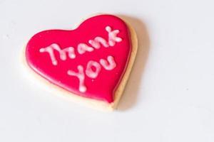 obrigado biscoito sobremesa foto