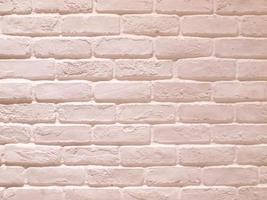textura de parede de tijolo branca moderna foto