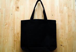 bolsa de tecido preto