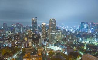 cidade de Tóquio à noite foto