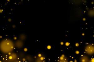 círculos dourados borrados em fundo preto