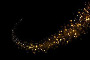círculos dourados borrados em fundo preto foto