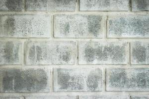 close-up da parede de tijolo cinza para textura ou plano de fundo foto