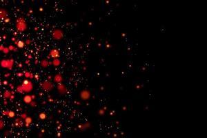 círculos vermelhos borrados com fundo preto foto
