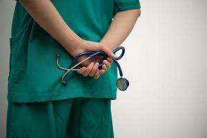 médico com um estetoscópio foto