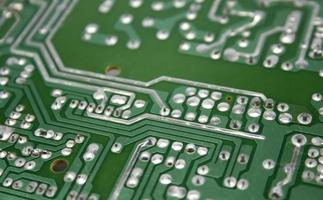 close-up da placa de circuito