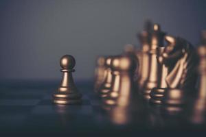 jogo de xadrez com suas peças foto