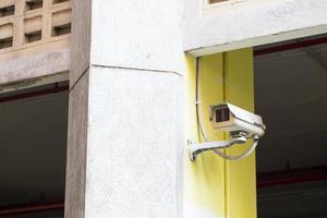 câmeras cctv montadas na parede