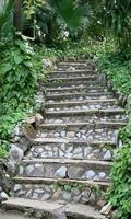 escadas de pedra natural