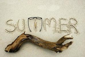 verão na areia foto
