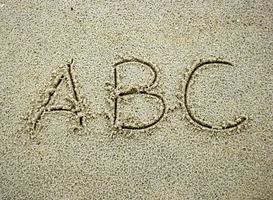 abc na areia foto