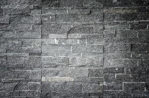 parede de tijolo preto foto
