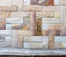 parede de pedra rústica foto
