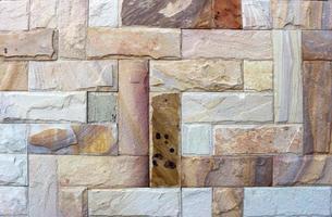 parede de tijolo de pedra foto