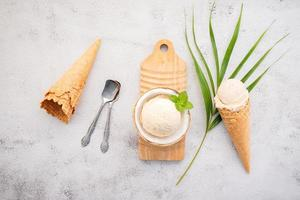 sabor de sorvete de coco