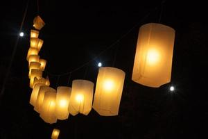 lanternas a noite