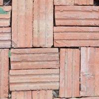telhas de tijolo marrom foto