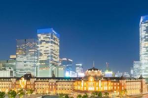 estação Tóquio à noite foto