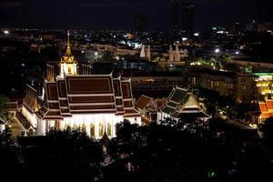 cidade de Banguecoque à noite foto