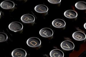 teclas de máquina de escrever antigas foto