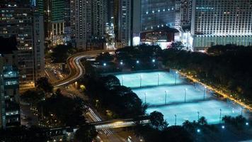 hong kong, 2020 - paisagem noturna de hong kong