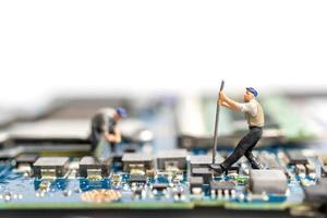 mineração de dados de pessoas em miniatura foto