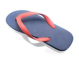 sapatos de praia isolados no branco