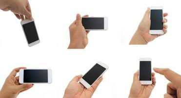 conjunto de pessoa segurando telefone