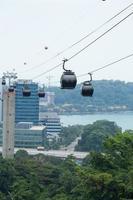 teleférico em cingapura
