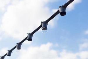lâmpadas no fio