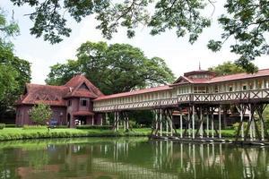 palácio na província de Nakhon Pathom na Tailândia foto