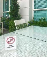 placa de proibido fumar lá fora