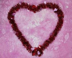 dia dos namorados coração plano lay frame