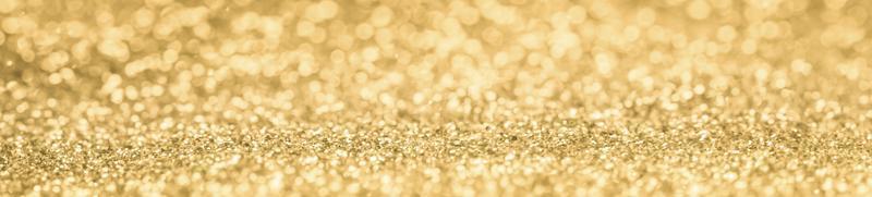 banner glitter dourado
