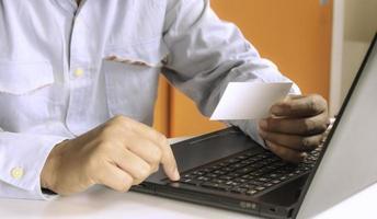 informações de digitação profissional do cartão de visita