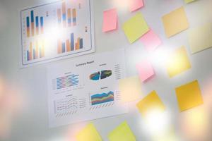 apresentação de gráficos de negócios foto