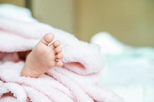 pés de bebê recém-nascido foto